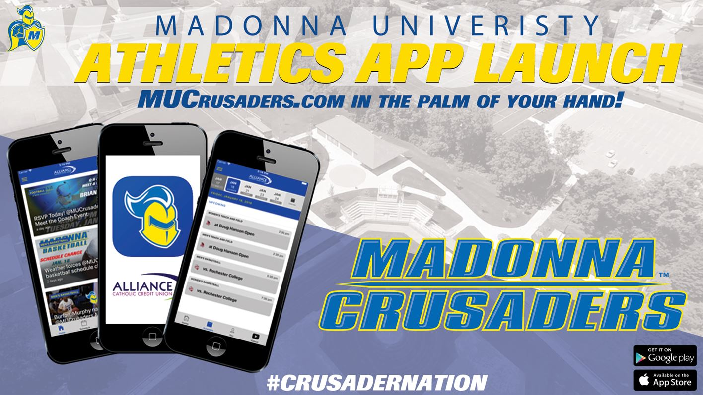 mobile app available to download - Madonna University Athletics